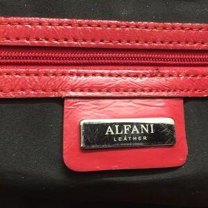 Alfani Red Leather Bag